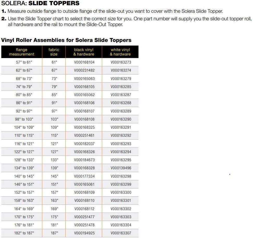 Lippert RV Solera Awning 11.5 Slider Black V000184673