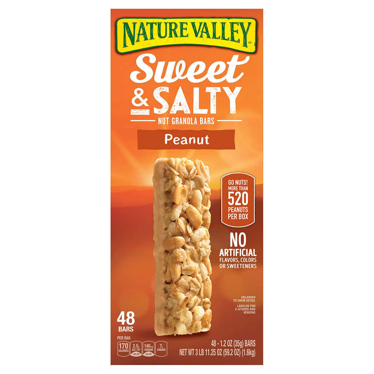 Nature Valley Granola Bars 48 Count Value Box (Peanut 1.2 oz)