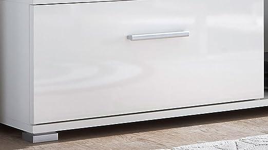 Illuminazione Led Compresa Parete Da Soggiorno In Laminato Di Colore Bianco Bianco Lucido Lucy Avanti Trendstore Dimensioni Lap 230x190x40 Cm Arredamento Com Soggiorno