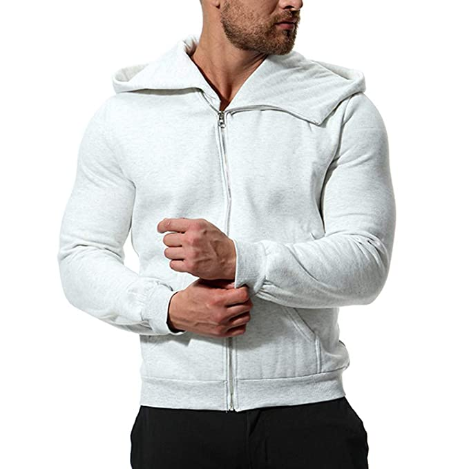 OverDose hombre con Capucha Liquidación de otoño Camisa de Manga Larga Camisa de chándal de Color sólido Blusa Superior Casual de Invierno Abrigo: ...