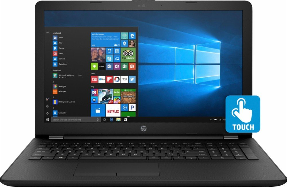 2017 HP 15.6 Inch Touch-Screen Laptop, 7th Gen Intel Dual-Core i7-7500U 2.7GHz, 12GB Memory, 1TB Hard Drive, DVD-RW, HDMI, USB 3.1, Windows 10 (black) by HP