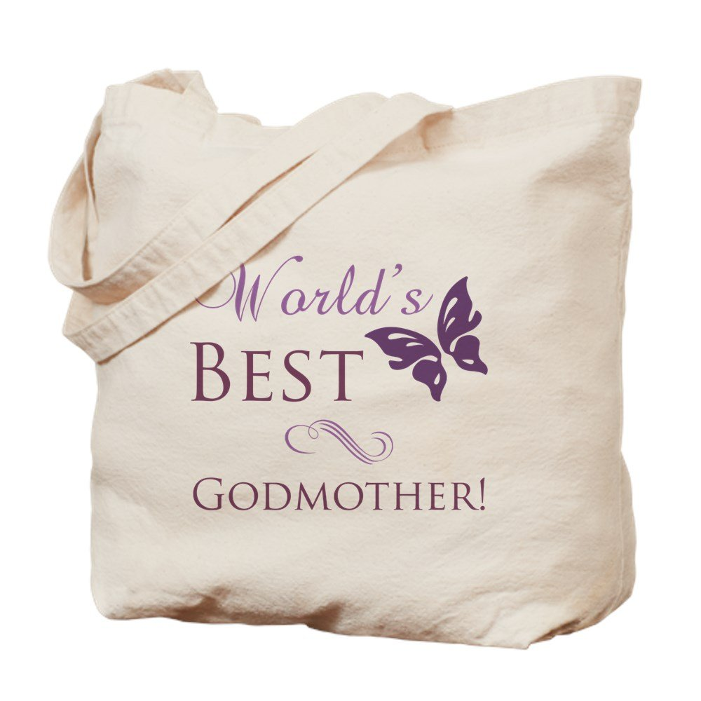 CafePress - World's Best Godmother - Natural Canvas Tote Bag, Cloth Shopping Bag