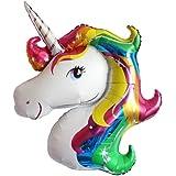Einhorn Unicorn Ballon - XXL Regenbogen Riesenballon für Luft und Helium 90x70x20cm als Geburtstagsgeschenk, Party-Deko oder Überraschung für die Freundin