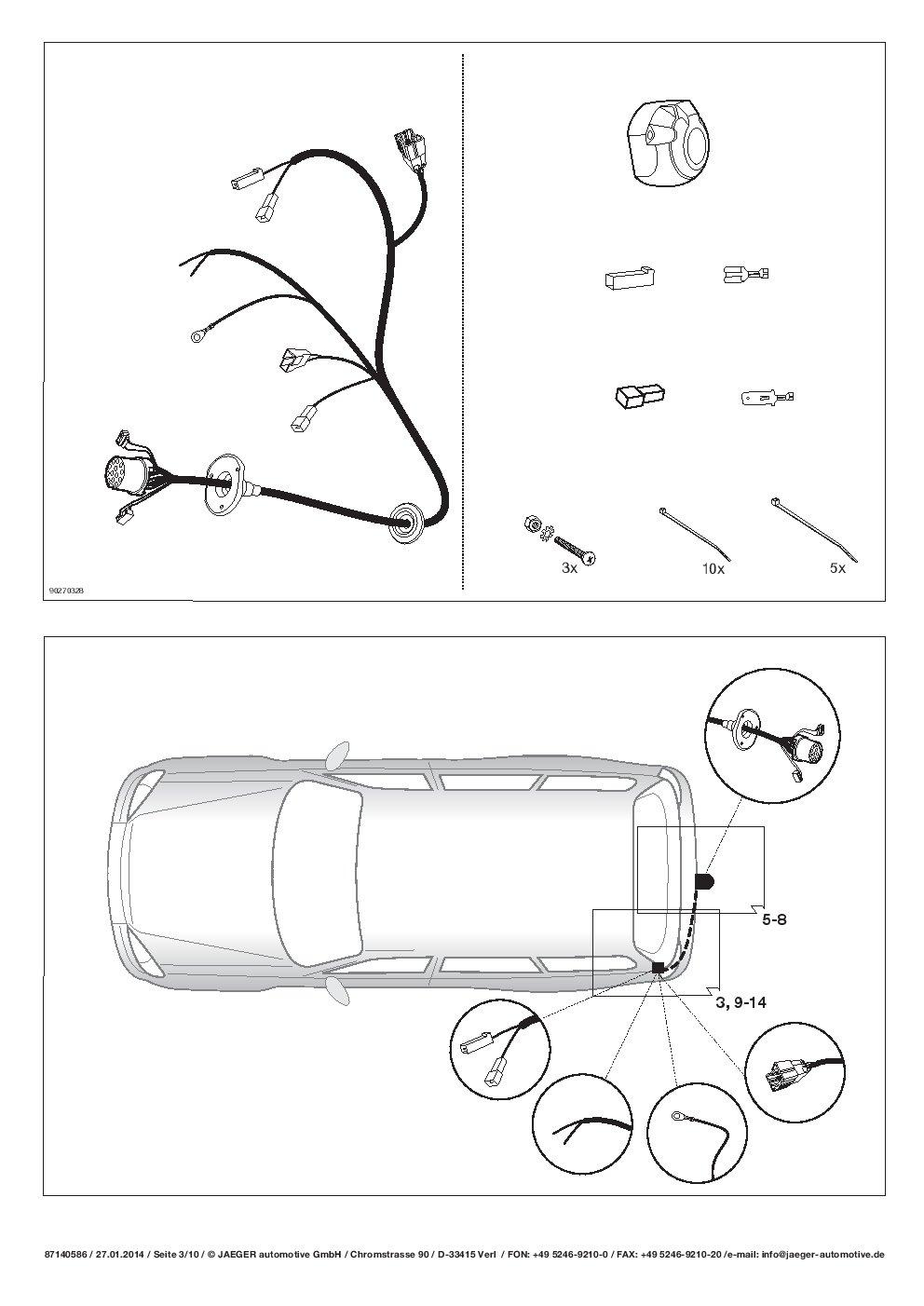 Anhängerkupplung starr+ESATZ 13polig SPEZIFISCH Für Nissan QASHQAI J10 2007-2014