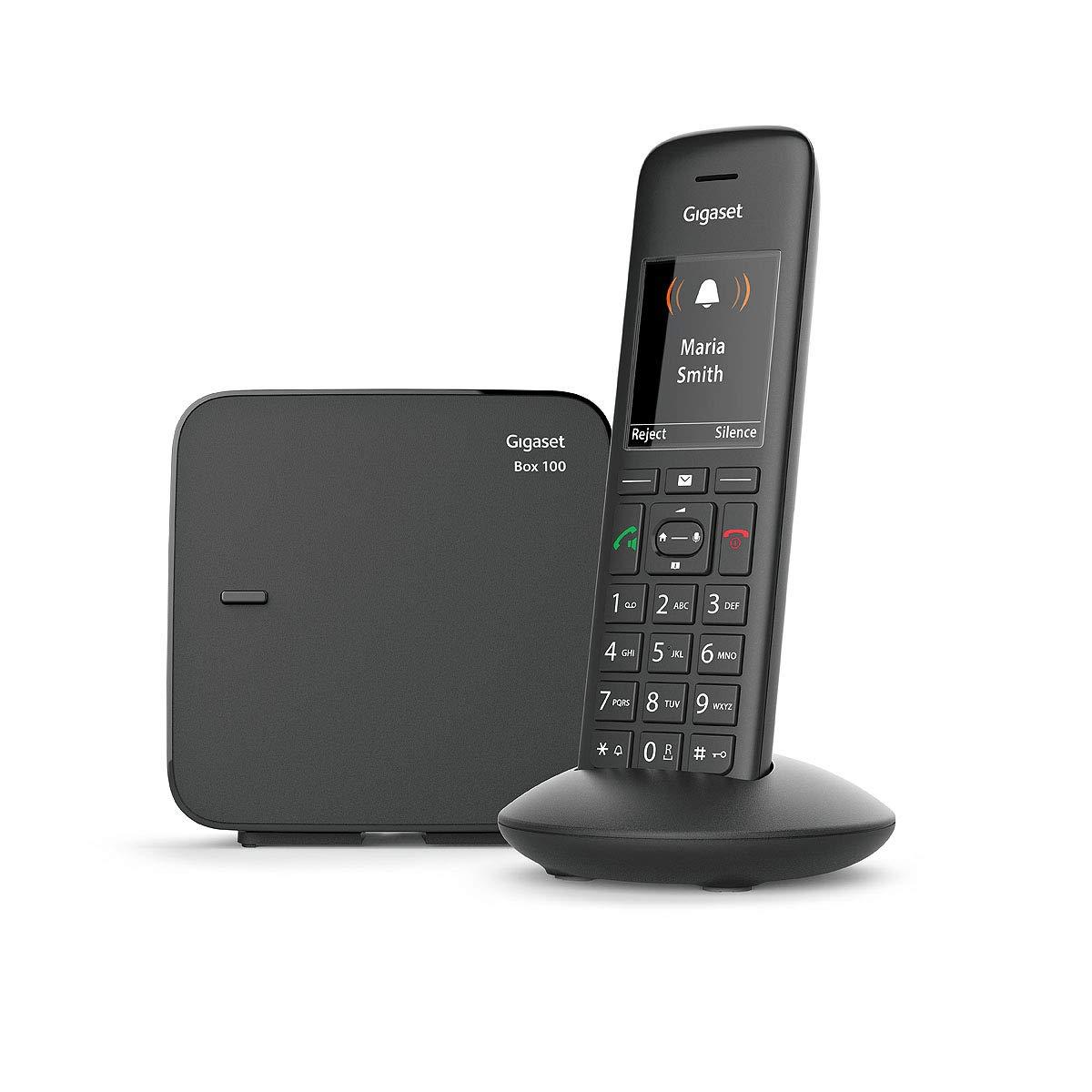 Tel/éfono DECT, Terminal inal/ámbrico, Altavoz, 200 entradas, Identificador de Llamadas, Negro Tel/éfono Gigaset C570