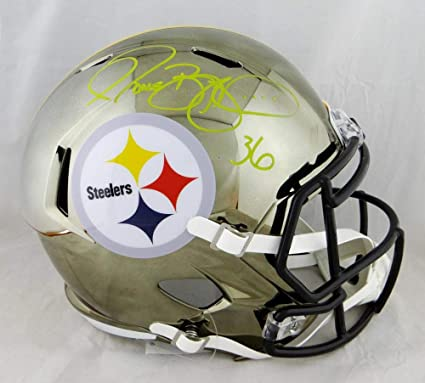 a0b9b53a7f1 Image Unavailable. Image not available for. Color  Jerome Bettis Autographed  Pittsburgh Steelers F S Chrome Helmet- Beckett Auth Yellow