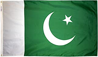 product image for Annin Flagmakers Model 196517 Pakistan Flag 3x5 ft. Nylon SolarGuard Nyl-Glo 100% Made in USA to Official United Nations Design Specifications.