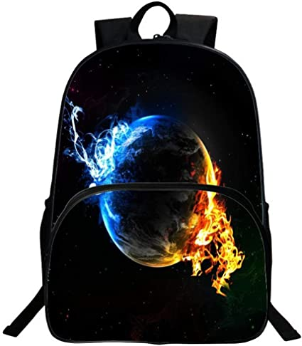Cosmic Stars Asdf Travel Bags 3D Bags Leisure Backpacks Student Bags Men and Women Backpacks Color : L