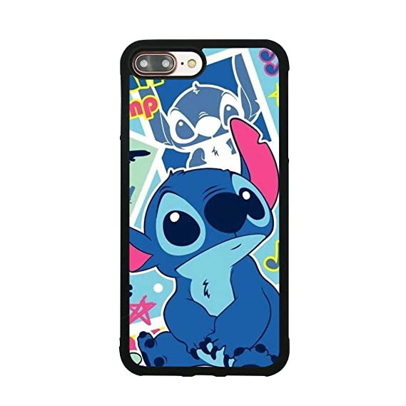 sale retailer 773cd 339e8 Lilo & Stitch Theme Case For iPhone 7 Plus / 8 Plus (5.5 Inch) Comic TPU  Silicone gel edge + PC Bumper Case Skin Protective Custom Designed Printed  ...