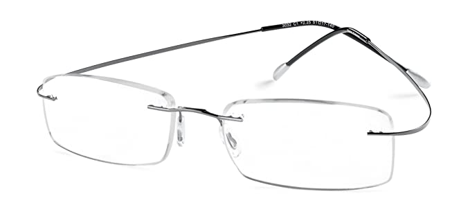 add2320827e Amazon.com  Specs Flexible Rimless Reading Glasses (Shiny Dark ...
