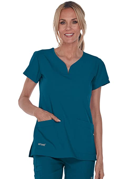 c2f2a88dd7e Amazon.com: Grey's Anatomy Signature Women's 2121 Two Pocket Notch Yoke  Neck Scrub Top: Clothing