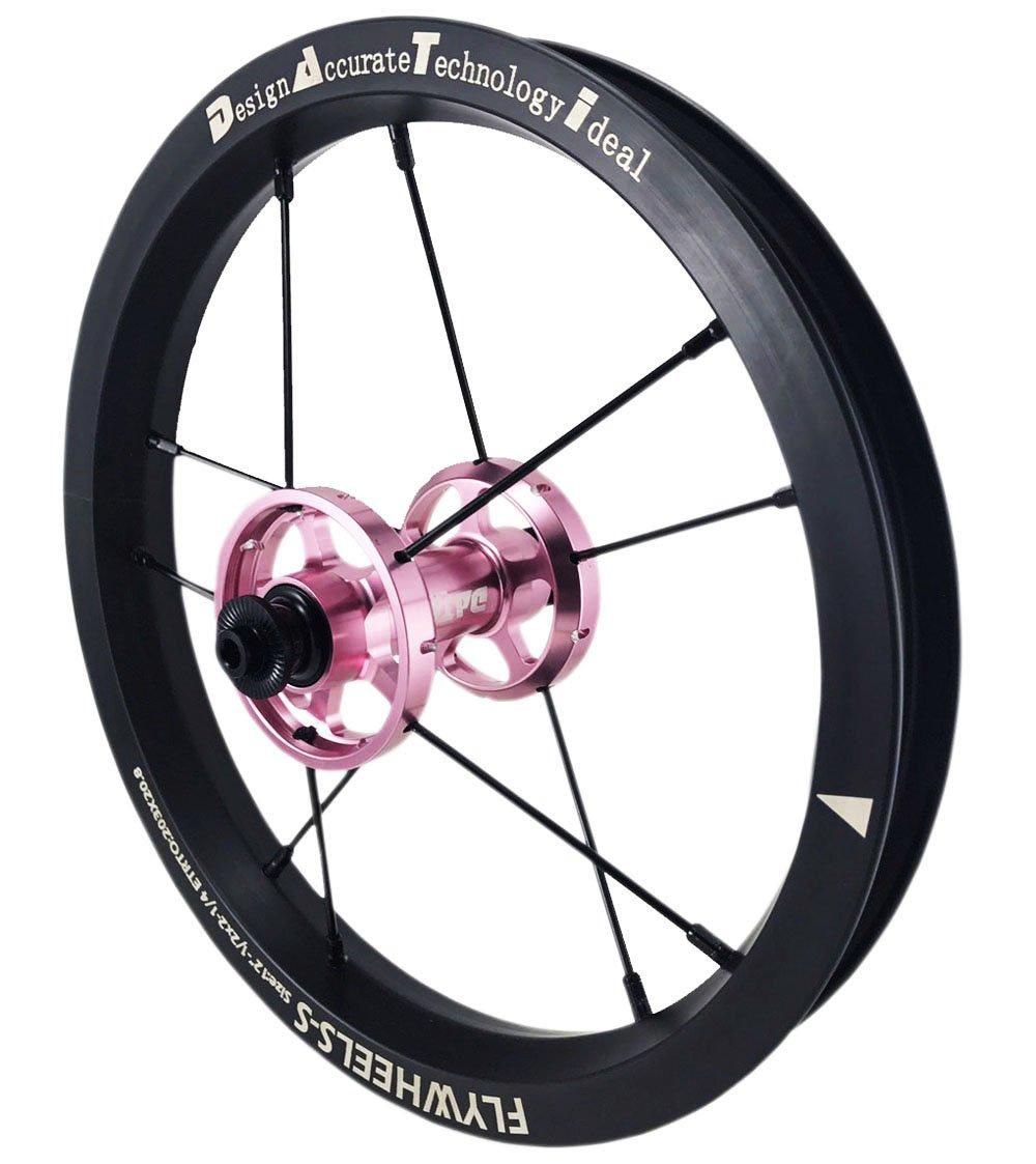 DATI 12インチ S6A-W Alloy バランスバイク Kids Balance Bike Bicycle Super light 子供自転車ホイール B0794PKTD7 95x8MM|ピンク ピンク 95x8MM