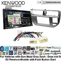 Volunteer Audio Kenwood DNX574S Double Din Radio Install Kit with GPS Navigation Apple CarPlay Android Auto Fits 2012-2014 Kia Rio (Gun Metal Grey)