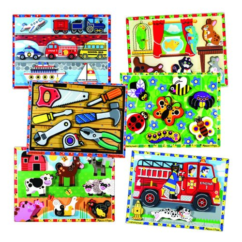 Chunky Raised Puzzles (Set Of 6) by Melissa & Doug