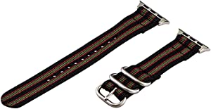 Clockwork Synergy - 2 Piece Heavy NATO Nylon Bands for Apple Watch (42mm Black / Green / Red)