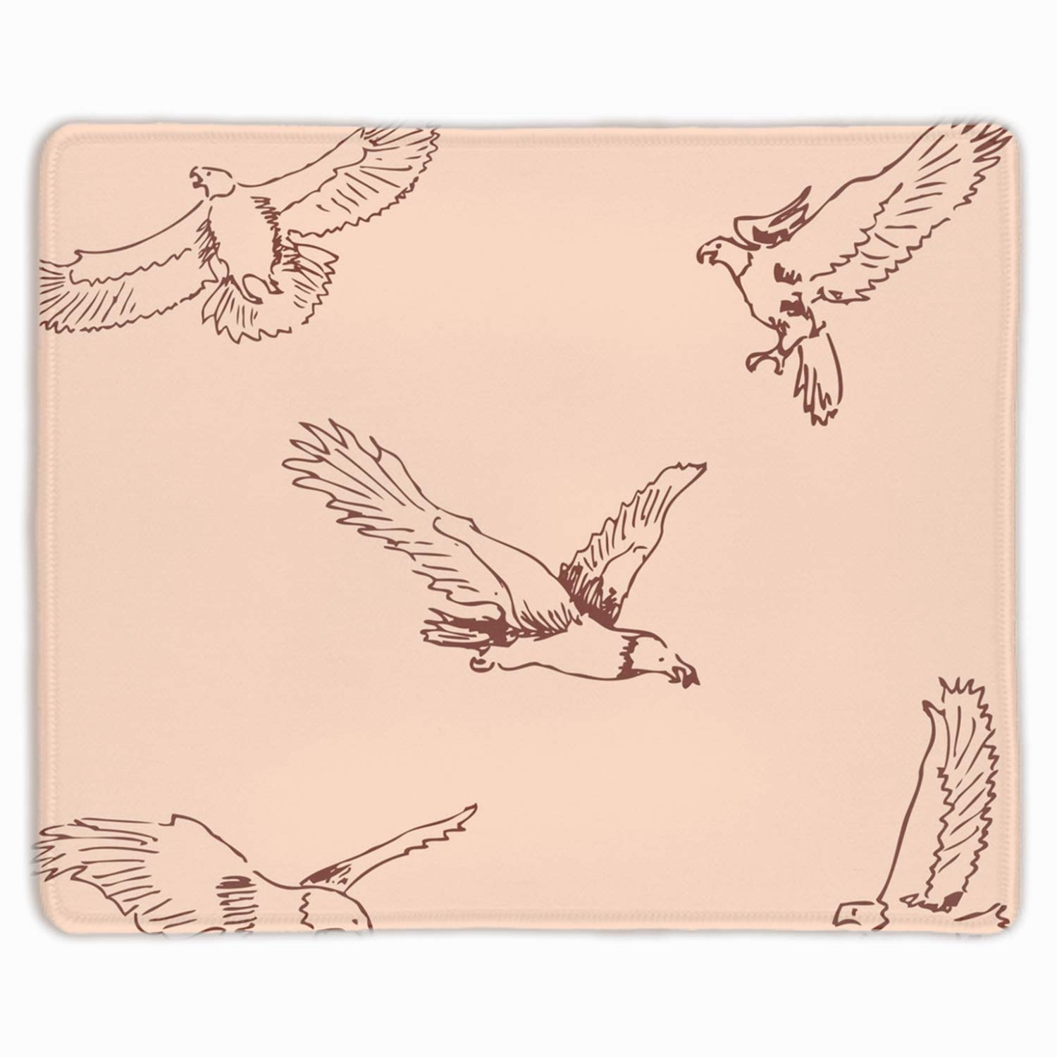Amazon com gaming mouse pad eagles sketch pencil drawing by hand