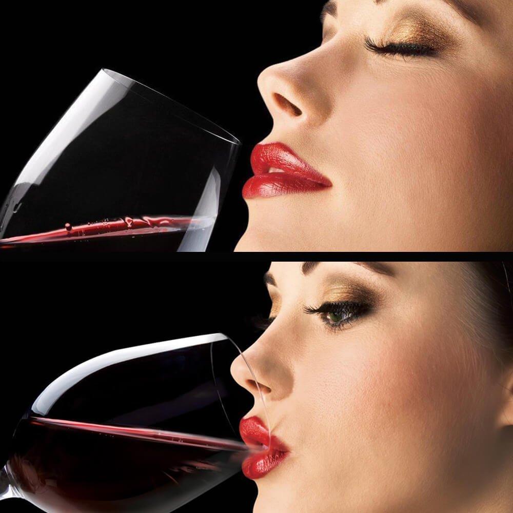Enshey Décanteur Rapide Aérateur, Aérateur à Vin Rapide avec Vin Filtre Accessoires du Vin – Noir