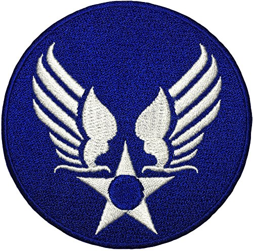 US Air Force Army Military Jacket Vest Star Wings Sew on Iron on Logo Emblem Embroidered Badge Sign Costume Patch - Blue (US-AIR-FORCE-WINGS-BLUE)