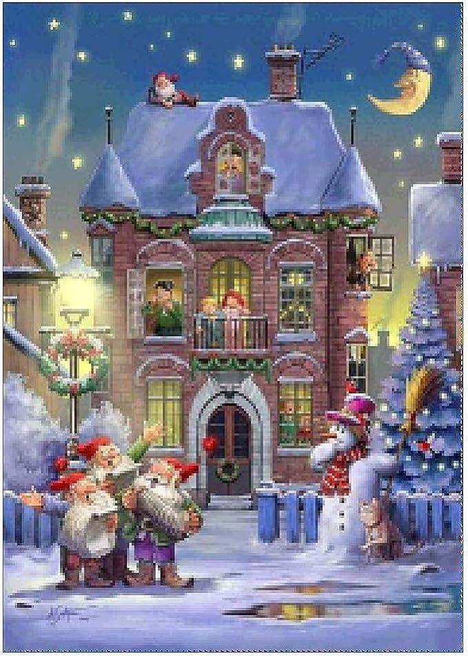 Broadroot Root Ancha 5d DIY Completo Broca Diamante Pintura Navidad hogar Punto de Cruz Bordado Brillantes Mosaico Kits Pared decoración: Amazon.es: Juguetes y juegos