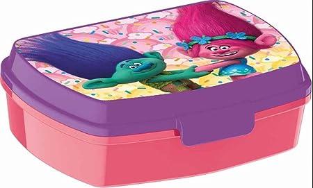 Caja de almuerzo Trolls – Merienda niños escuela vuelta al cole – 745: Amazon.es: Hogar