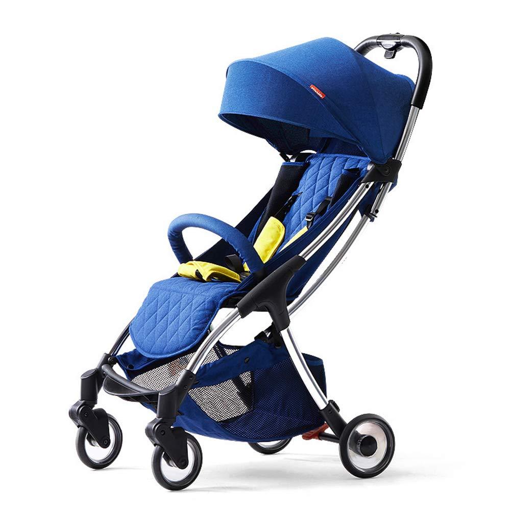 ベビーカー、ベビーカー、ベビーカー - 幼児用ベビーカー - キャリーコットとベビーカー - 折りたたみベビーカー、買い物かご付きのモダンなデザイン  blue B07TCGXJR4