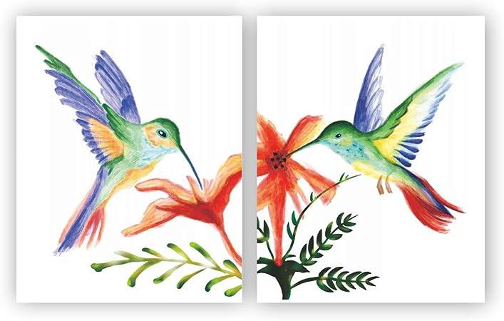 bird hummingbird Abstract Quality home decor Canvas Painting Wall Art Prints