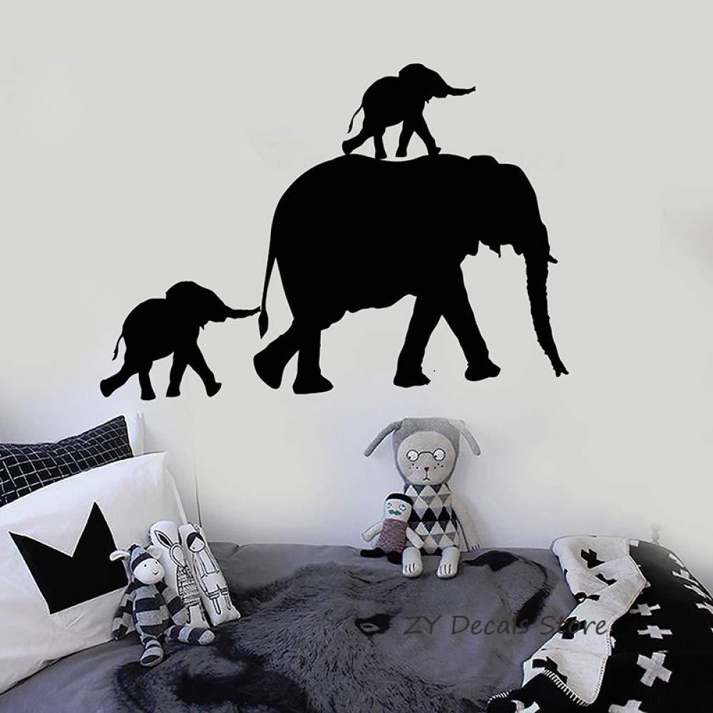 Familia de Elefantes Tatuajes de Pared Animal Lindo Etiqueta de la ...