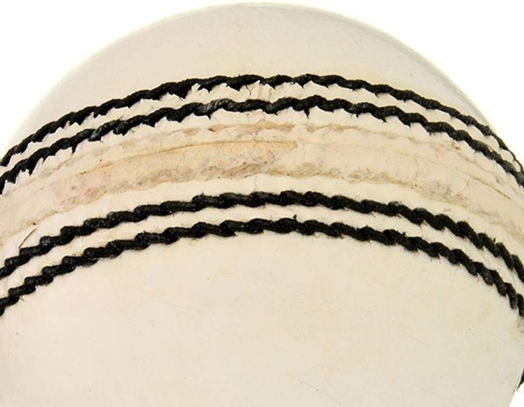 Four Pitch cricket ball SG Club Leather Ball White