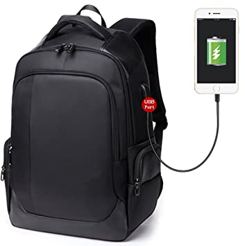 28188f183c76 Image Unavailable. Waterproof Business Laptop Backpack 15.6 inch with USB  Charging Port Mens Women Slim Travel Laptop Bag