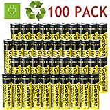 WishDeal 100 PC 18650 Battery Rechargeable Battery 6000 mAh 3.7V Battery for Flashlight LED Light