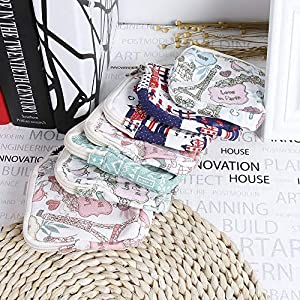 LOCHI Protable Women Floral Tampon Storage Bag Sanitary Napkin Package Coin Purse Cosmetic Bag