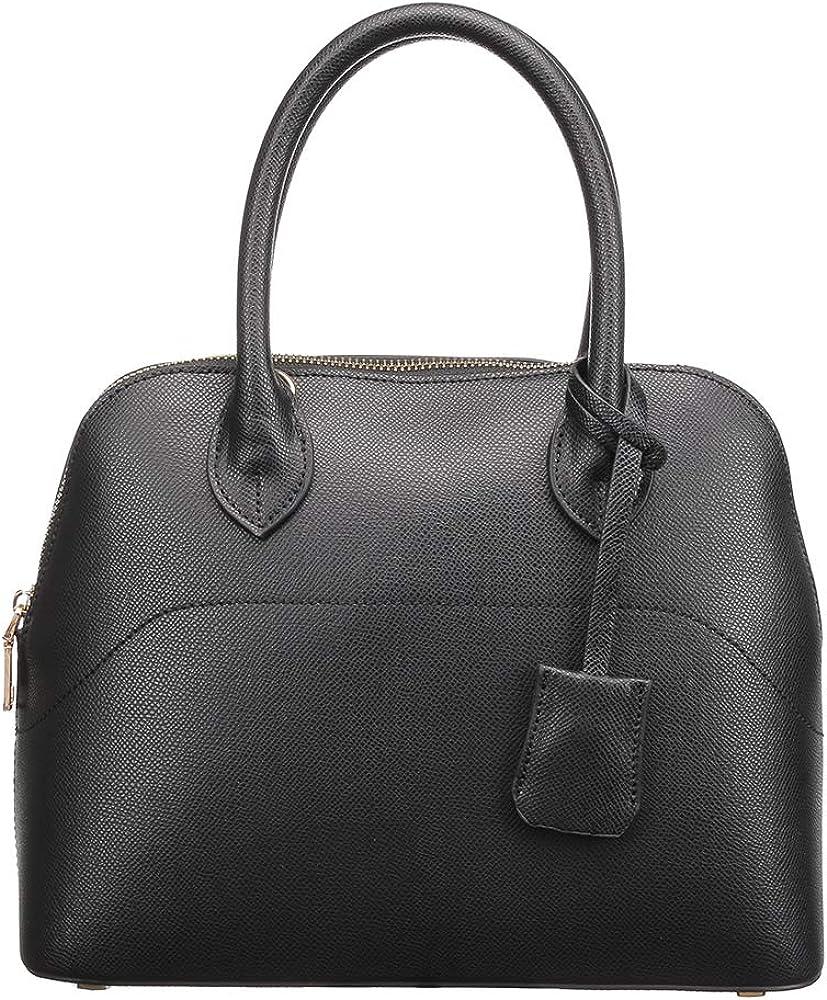 H2&B Women's Italian Genuine Leather Handbag Shoulder Bag Fashion Tote Bag Purse for Shopping and Gifts