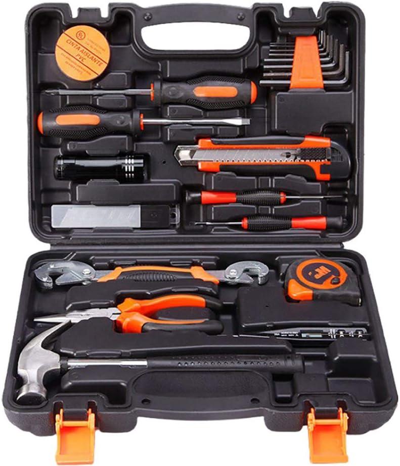25-piece Tool Set General Household Hand Tool Kit Home Repair Kit Set Multiple Accessories Plastic Toolbox Storage -25pcs 27x16x7cm(11x6x3inch)