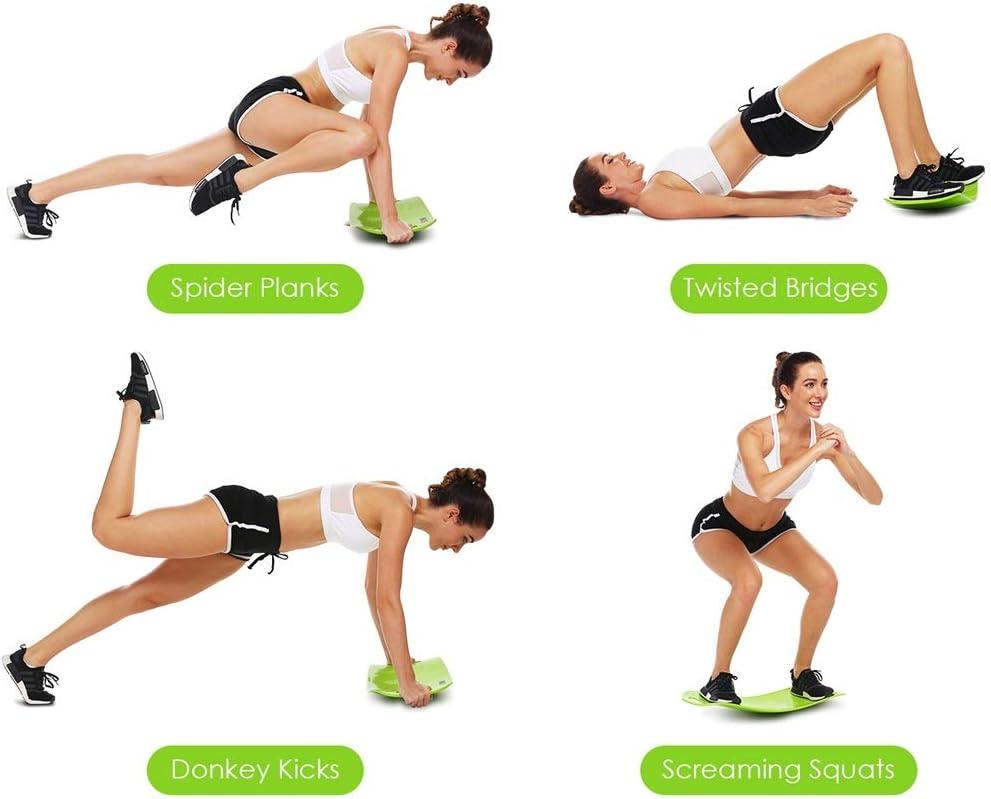 Rumpf und Bauchmuskeln ANCHEER AM-454 Fitness Balance Board f/ür Unisex Twisting Athletics /& Exercise Trainer zur Kr/äftigung von Muskeln