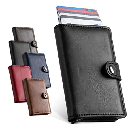 e54aeaf4067a LunGear Credit Card Holder Front Pocket Slim Minimalist Wallet RFID  Blocking Automatic Pop Up Business Card Case for Men and Women (Black):  Amazon.co.uk: ...
