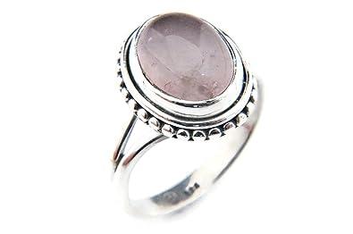Ring Silber 925 Sterlingsilber Rosenquarz rosa Stein