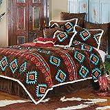 Black Forest Decor Turquoise Diamond Plush Bed Set - Twin