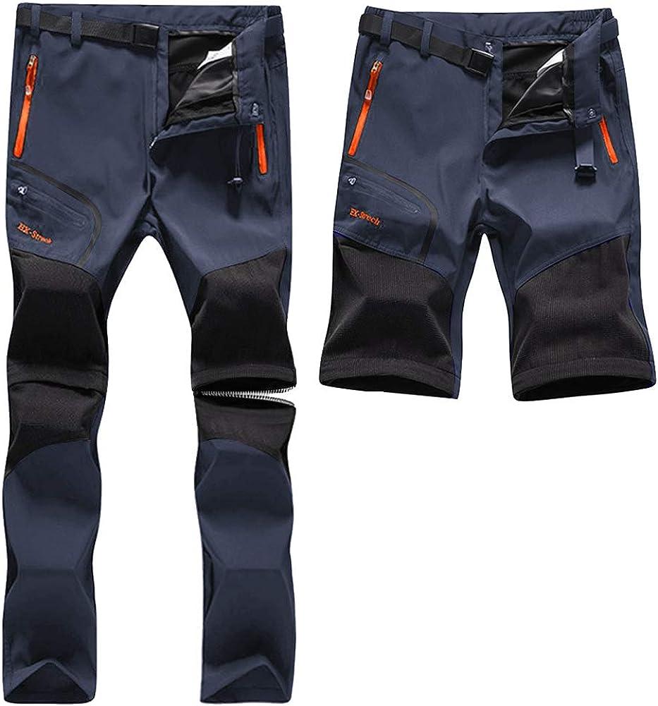 SANMIO Pantalones Aire Libre de Hombre Cortos Trekking ...