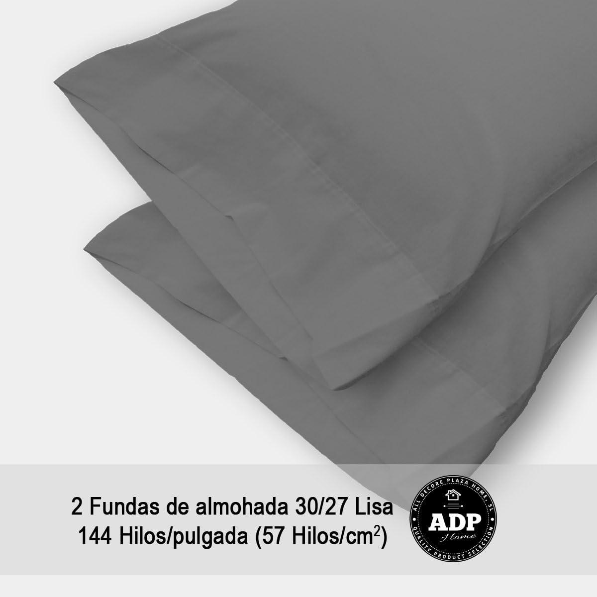 Pack de 2 ud. de 70 cm ADP HOME QUALITY PRODUCT SELECTION Funda DE Almohada Lisa 144 Hilos ALL DECORE PLAZA HOME S.L