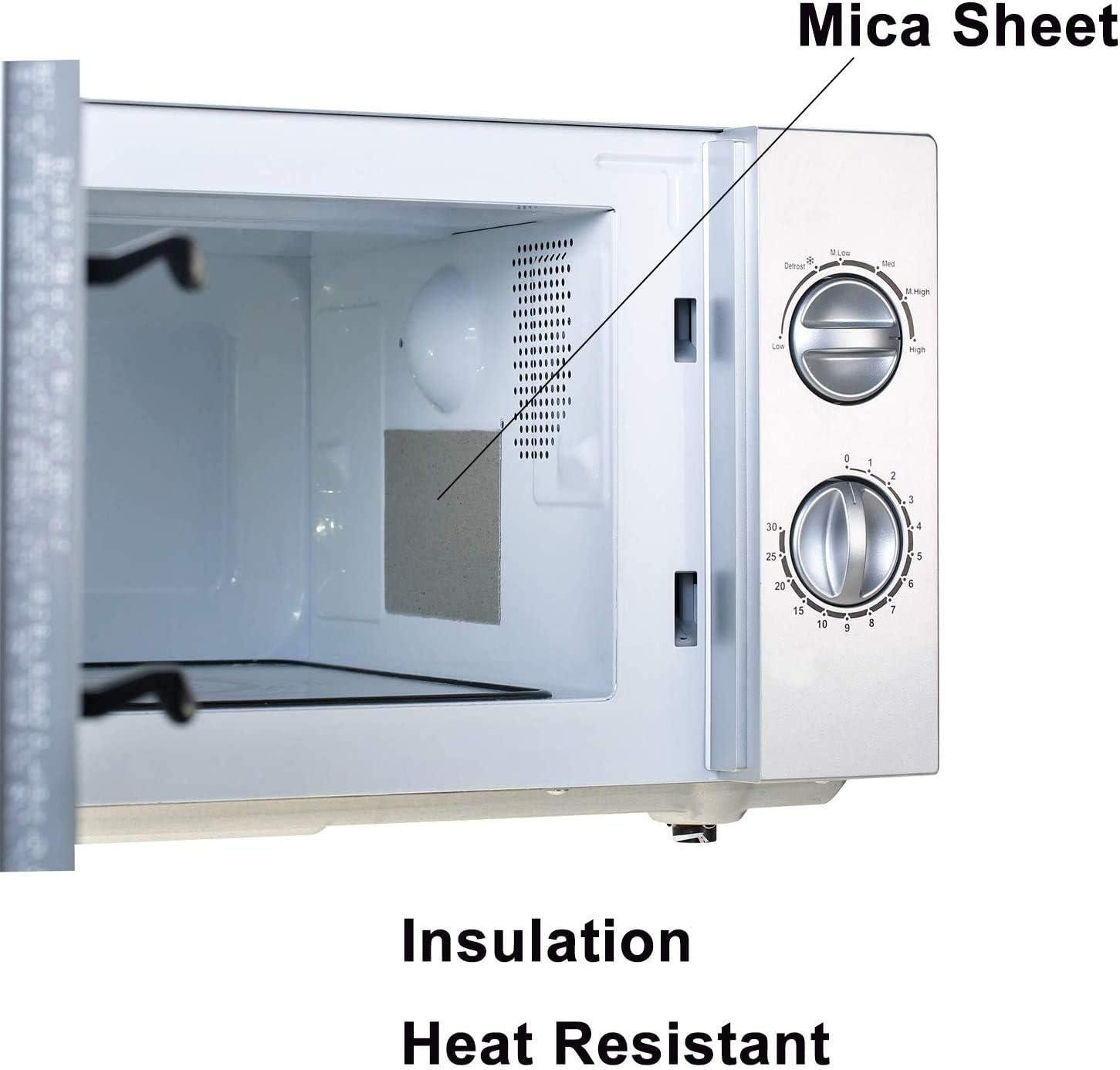 4 PCS Fallcon Mica Microondas Reparaci/ón de Microondas Mica de Placas Hojas de Microondas 13 x 13cm