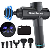 Massage Gun - Diwenhouse Deep Tissue Muscle Percussion Massager for Athletes, 20 Speed Handheld Electric Massage with 6…