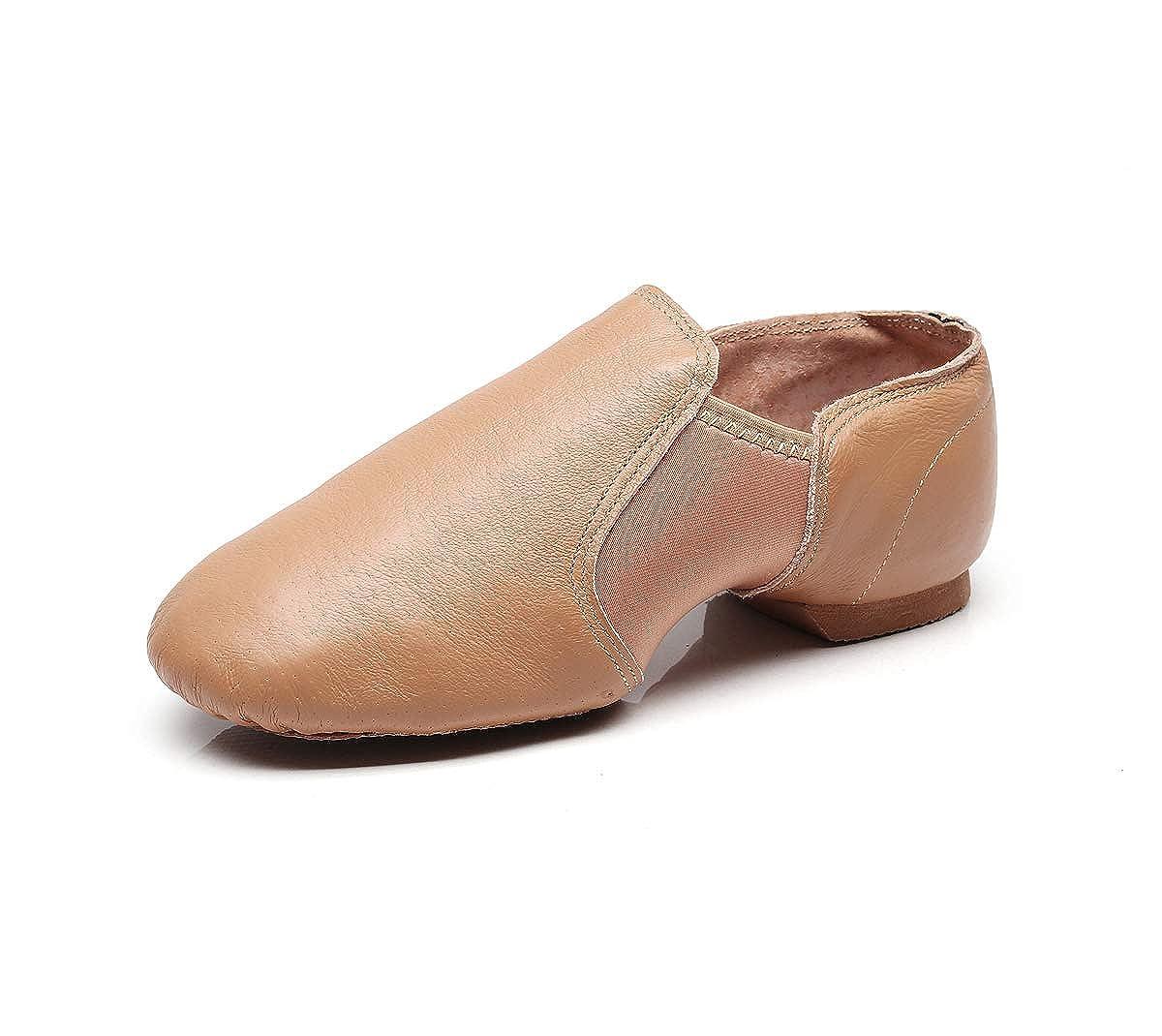 DoGeek antidérapant en Cuir sur Jazz Dance Chaussures Arches Split Semelle en néoprène Disponible en 2 Couleurs