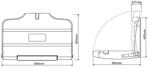 cambiador de pañales de pared horizontal blanco: Amazon.es: Bebé