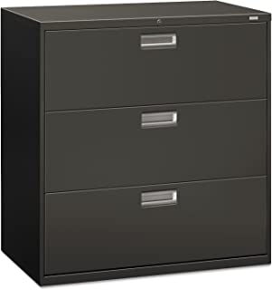 product image for HON 693LS 600 Series Three-Drawer Lateral File, 42w x 19-1/4d, Charcoal