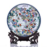 All Decor Beautiful Home & Office Decor Accent - 10'' Chinese Fine Porcelain Decorative Plate