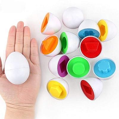 6Pcs Kids Infant Toddler Simulation Eggs Educational Development Puzzle Toy: Toys & Games [5Bkhe0506524]