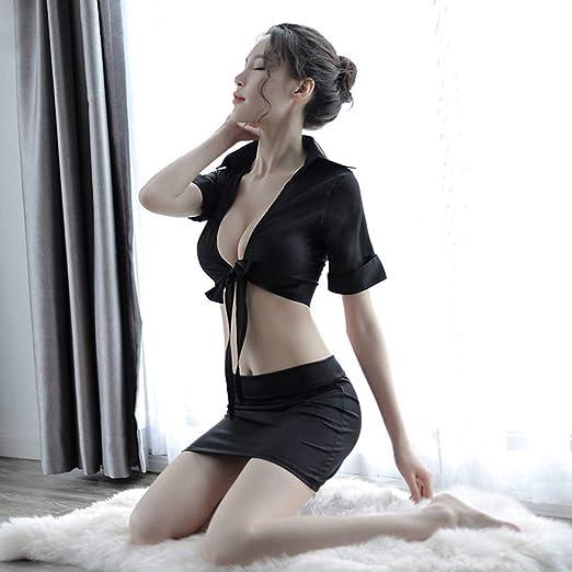 Amazon.com: AUWU Dos piezas de Camisa atractiva de las Mujeres Maestro Juego de Roles muchacha del Traje de la Falda de la ropa Interior: Health & Personal ...