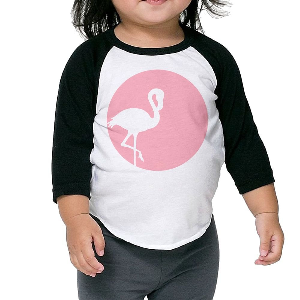 KHAZ88z Pink Flamingo Gift Lover Kid 3//4 Raglan T-Shirts 3//4 Sleeves Baby Tee 100/% Cotton Round Neck