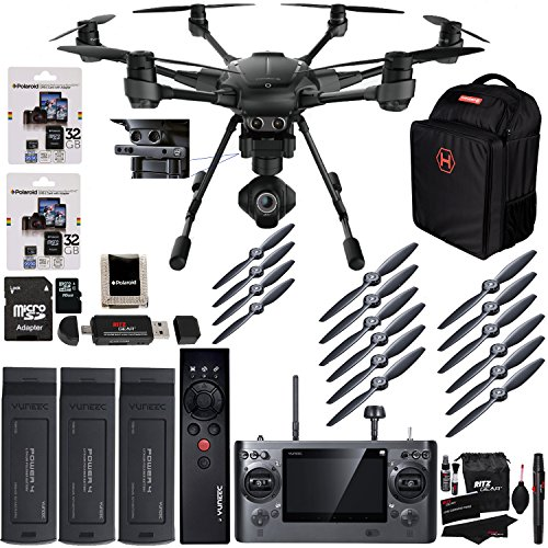 Yuneec Typhoon H Pro 4k Collision Avoidance Hexacopter GCO3 4K Camera Kit,...
