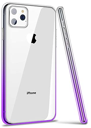 iPhone 11 Pro Max Case Cover, Ansiwee Thin Slim Soft Colorful Color  Gradient Bumper and Clear Hard Back Impact Resist Durable Case for Apple  iPhone 11